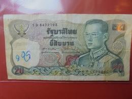 THAILANDE 20 BAHT 1981 CIRCULER - Thaïlande