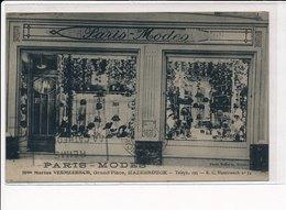 HAZEBROUCK : Paris-modes, Mme Marius Vermeersch Grand'place - Tres Bon Etat - Hazebrouck