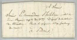 Longpré (?) Au Commandant Pierre-Henri Philibert , Introducteur De La Vanille à La Réunion . St-Denis 1824 . Marine . - Autographs