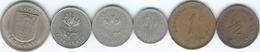 Rhodesia - Elizabeth II - ½ (1970) 1 (1977) 2½ (1970); 5 (1973 & 1976) & 10 Cents (1975) (KMs 9-14) - Rhodesia