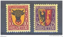 Suisse  -  1918  :  Yv  168-69  *                  ,      N5 - Pro Juventute