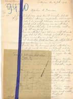 Brief Lettre - Landmeter Edmond Vekeman  - Zottegem - Naar Kadaster 1928  + Brief Met Antwoord - Vieux Papiers