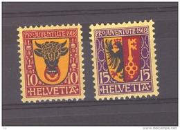 Suisse  :  Yv  168-69  *             ,    N6 - Pro Juventute