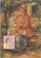 Switzerland 1987 Pro Juventute 35Rp Painting Auguste Renoir Maxicard (42469) - Maximumkaarten