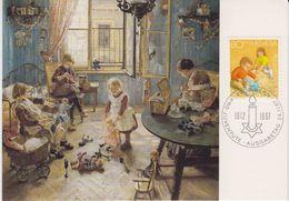Switzerland 1987 Pro Juventute 80Rp Painting Fritz Uhde Maxicard (42469A) - Maximumkaarten