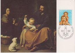 Switzerland 1987 Pro Juventute 90Rp Painting Bartolome Esteban Murillo Maxicard (42469B) - Maximumkaarten