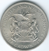 Rhodesia & Nyasaland - 1957 - Elizabeth II - ½ Crown - KM7 - Rhodesia