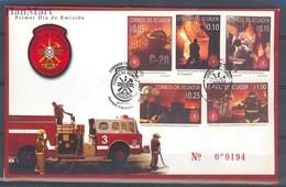 Ecuador 2007 Mi 3054-3058 FDC ( FDC ZS3 ECD3054-3058 ) - Feuerwehr