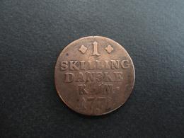 1 SKILLING 1771 DANSKE DANEMARK CUIVRE SUPER QUALITE !! - Denmark