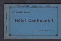 Rare Carnet 6 CPA La Baule Hotel Continental ( Facade (fete Des Fleurs )  Terrasse Hall Café Salle à Manger Chambre ) - La Baule-Escoublac
