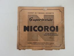 Carnet De Timbres-escompte Supertextile Nicoroi. - Andere Sammlungen
