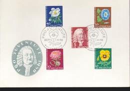 1958, Svizzera, 663-67, FDC. - FDC