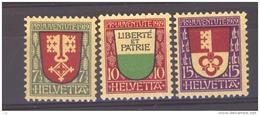 Suisse  :  Yv  173-75  *             ,    N2 - Nuevos