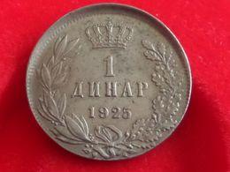 Yugoslavia Jugoslavija Kingdom 1 Dinar 1925 ERROR Paris Mint A.PATEY - Yugoslavia