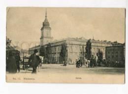263038 POLAND WARSZAWA Zamek Castle Carriages 1914 Year RPPC - Poland