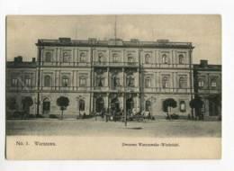 263030 POLAND WARSZAWA Warszawsko-Wiedenski Palace Vinttage PC - Poland