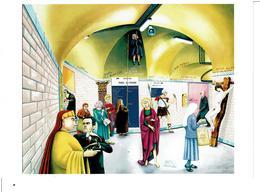 ALAIN 1er De METROPOTAMIE 1987 - JESUS LACHEMENT ABANDONNE DANS LE METRO ( Huile 81 X 100 ) - VOIR SCANS - Other Collections