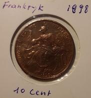 1898  10 Centimes - France