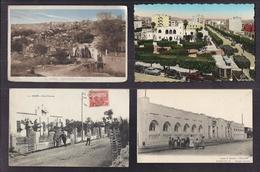 LOT 20 CPA AFRIQUE DU NORD - 3 CPSM ALGERIE TUNISIE MAROC ANIMATIONS VILLES VILLAGES SCENES ET TYPES TBE - Postkaarten