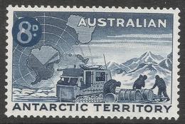 Australian Antarctic Territory. 1959 Definitives. 8d On 7d MH. SG 3 - Neufs