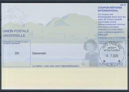 GROENLAND / GREENLAND DENMARK Pe31 20040303  AH  Int. Reply Coupon Reponse Antwortschein IAS IRC O TASIILAQ 18.7.2005 - Groenland