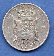 Belgique  - 1 Franc 1886    --  Km # 28.1    état TB+ - 07. 1 Franc