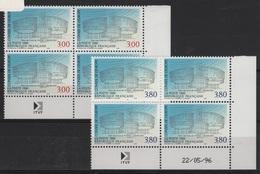 FR/SER 5 - FRANCE Service N° 116/117 Neufs** En Blocs De 4 Coins Datés - Servizio