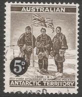 Australian Antarctic Territory. 1959 Definitives. 5d On 4d Used. SG 2 - Australian Antarctic Territory (AAT)