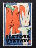 PRAGA PRAHA 1938 SLETOVA VYSTAVA   AQUILA E FIACCOLA - Erinnofilia