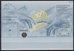GROENLAND / GREENLAND Pe33 100 YEARS Int. Reply Coupon Reponse Antwortschein IAS IRC HOLOGRAM  O TASIILAQ 2.7.2007 (GA) - Groenland