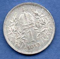 Autriche - 1 Krone 1915    --  Km # 2820    état TTB+ - Autriche