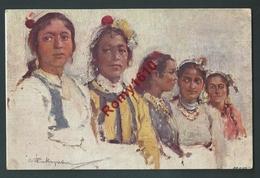 Russie. Illustrateur Russe. Femmes. Belle Litho Signée.  Scans Recto /verso. - Künstlerkarten