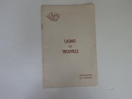 Programme Du Théâtre Du Casino De Trouville (14). - Programmes
