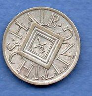 Autriche - 1/2  Shilling 1925     --  Km # 2839   état TTB - Austria