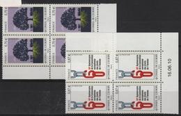 FR/SER 7 - FRANCE Service N° 146/147 Neufs** En Blocs De 4 Coin Daté Et Numéroté - Servizio