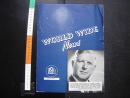 20th CENTURY FOX 1940 April World Wide News CINEMA La Mousson Star Dust DARNELL - Livres, BD, Revues
