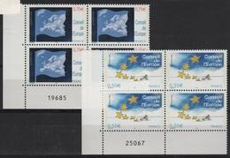 FR/SER 8 - FRANCE Service N° 130/131 Neufs** En Blocs De 4 Coins Numérotés - Dienstpost