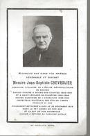 Faire Part De Déces--  De Messire Jean Baptiste  Chevrolier --Rennes-- -Bourg Des Comptes---Fougeres --Retiers - Obituary Notices