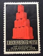 1929 X REICHENBERGER MESSE REKLAMEMARKE POSTER STAMP  TSCHECHIOSLOWAKEI CECOSLOVACCHIA - Erinnofilia