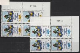 FR/SER 10 - FRANCE Service N° 126/127 Neufs** En Blocs De 4 Coins Numérotés - Service