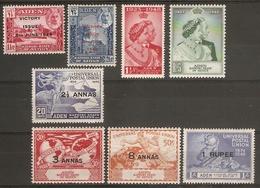 ADEN - KATHIRI STATE OF SEIYUN 1946 - 1949 COMMEMORATIVE SETS INCLUDING SILVER WEDDING SET MOUNTED MINT Cat £20+ - Aden (1854-1963)