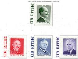 PIA  -  FAROER  -  1984  :  Scrittori Famosi -  (Yv 93-96) - Isole Faroer