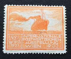 WIPA 1933 INTERNATIONALE POSTWERTZEICHEN AUSSTELLUNG  WIEN 1933  TRANSATLANTICO - Erinnofilia