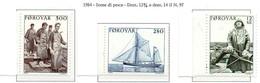 PIA  -  FAROER  -  1984  :  Aspetti Della Pesca Faeroesi  -  (Yv 97-99) - Isole Faroer