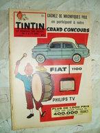 TINTIN BELGE  NO 5- 02/1959-COVER TINTIN-RC DIVERS-- -VOIR - Tintin