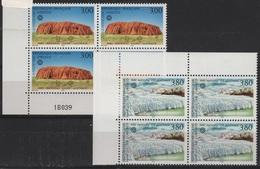 FR/SER 13 - FRANCE Service N° 114/115 Neufs** En Blocs De 4 Avec 1 Coin Numéroté - Servizio