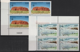 FR/SER 13 - FRANCE Service N° 114/115 Neufs** En Blocs De 4 Avec 1 Coin Numéroté - Ungebraucht