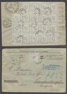 MONTENEGRO. 1894 (20 Oct). Cettigne - Turkey / Constantinople (25 Oct). Reg Multifkd Env Bearing 1n Bluish Grey Block Of - Montenegro