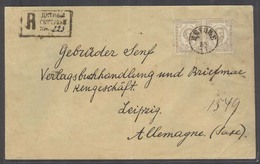 MONTENEGRO. 1891 (14 Nov). Cettigne - Germany (18 Nov). Reg Fkd Env 15n Bister Pair Cds R-pmk. Arrival Cds. VF. - Montenegro