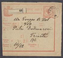 MONTENEGRO. 1892 (27 Dec). Podgoritza - Triest (2 Jan). Money Order Stat Card Backstamped. V Scarce. - Montenegro